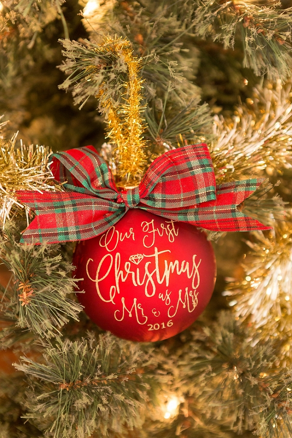 DIY Christmas Ornament For Newlyweds