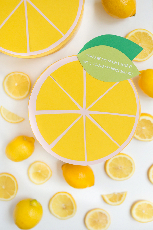 DIY Citrus Will You Be My Bridesmaid Box
