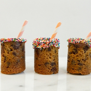 DIY Cookie Shot Glasses Featuring Rainbow Sprinkles