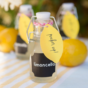 Easy DIY Limoncello Wedding Favors