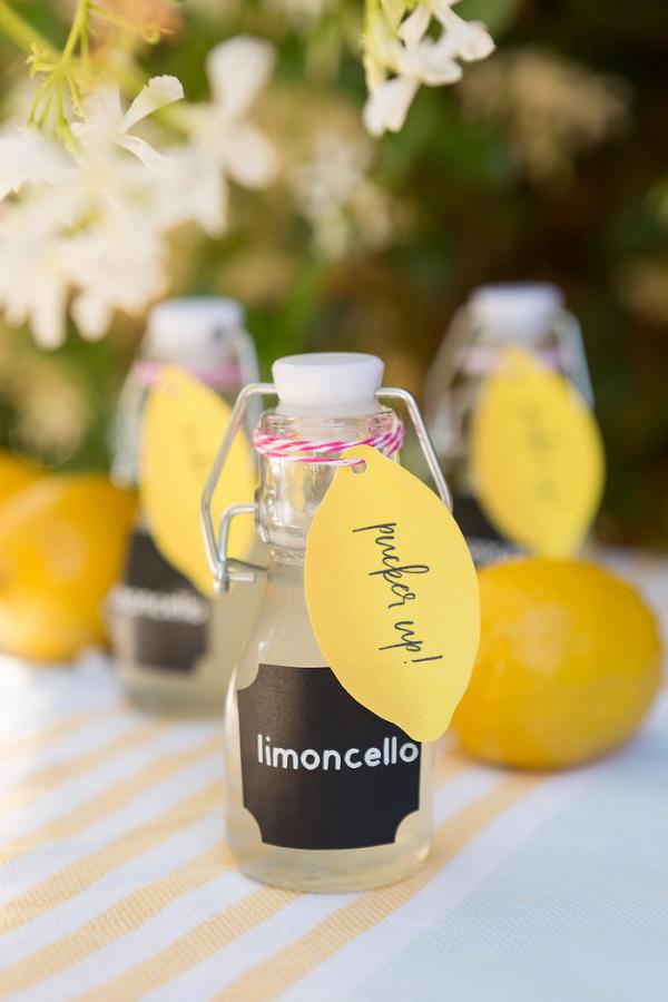 Easy DIY Limoncello Wedding Favors