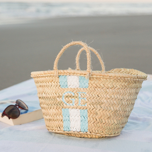 DIY Monogram Straw Tote