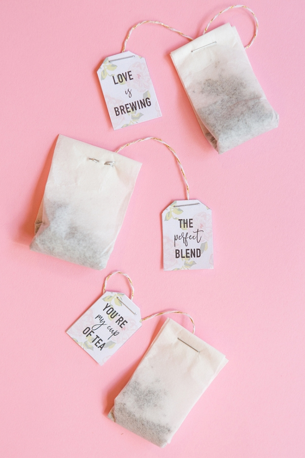 DIY Tea Bag Favors - Aisle Society