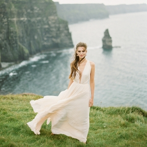 Organic Bridal Portraits At The Cliffs Of Moher