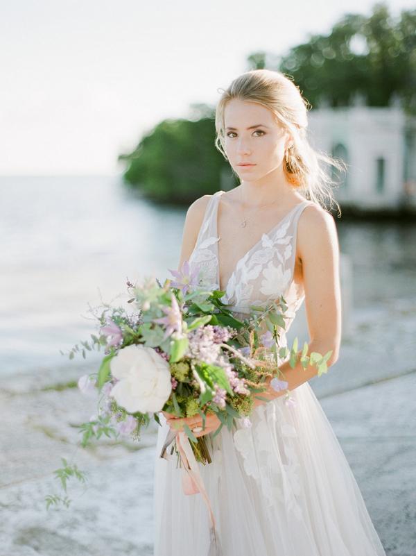 Vizcaya Garden Bridal Portraits