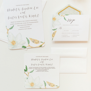 DIY Magnolia Wedding Invitations With Mixbook