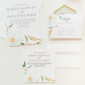 DIY Magnolia Wedding Invitations With Mixbook