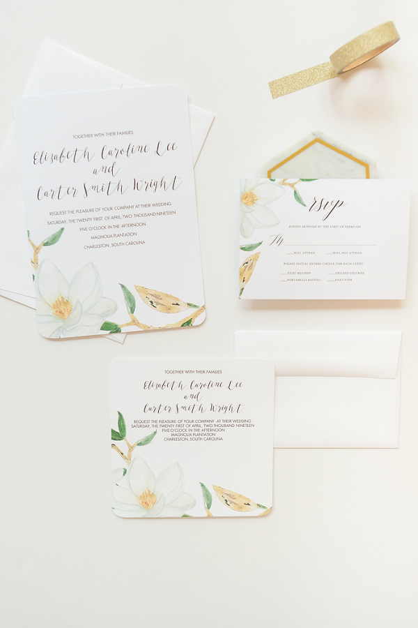 How to easily diy your wedding stationery aisle society diy magnolia wedding invitations with mixbook junglespirit Gallery