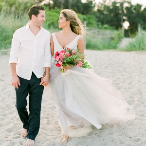 Vow Renewal Featuring A Tulle Skirt