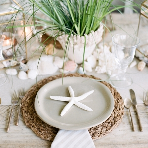 Organic Coastal Wedding Tablescape
