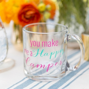 You Make Me A Happy Camper Mug