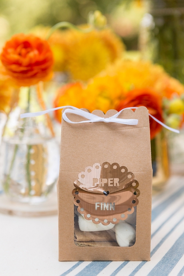Fall Camping Themed Engagement Favors
