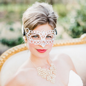 Bride In Masquerade Mask