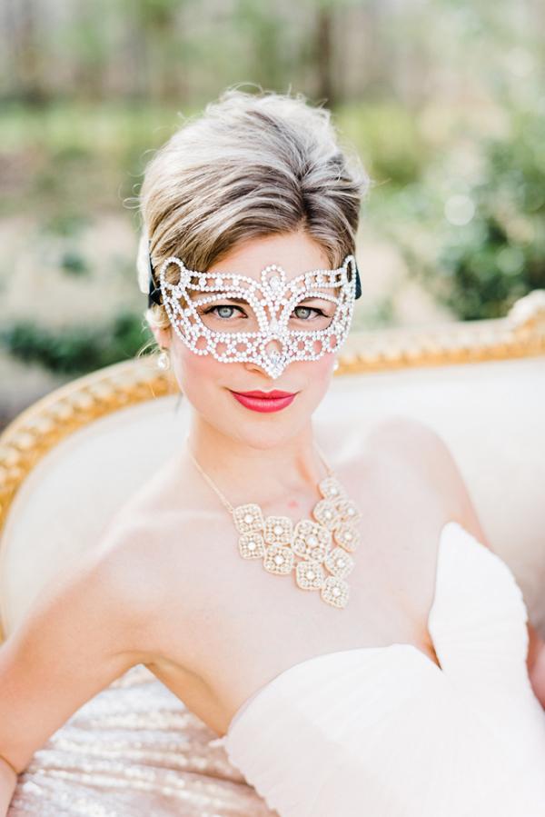 Bride In Masquerade Mask
