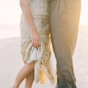 Gold North Carolina Beach Wedding