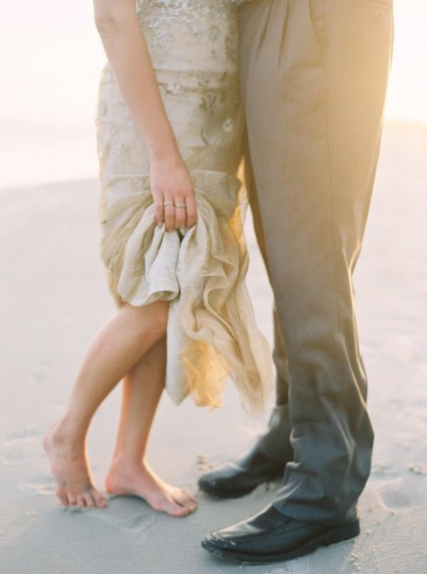 Gold North Carolina Beach Wedding