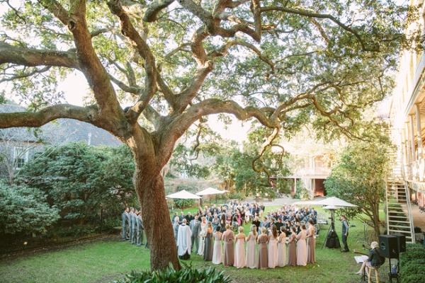 Gold + Pastel Charleston Wedding