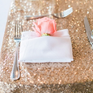 Gold Sequin Table Linen