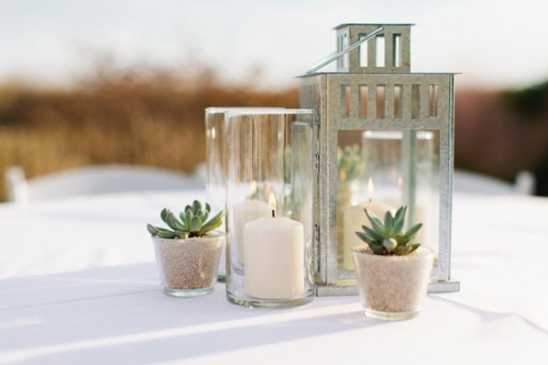 Green and White Coastal Wedding