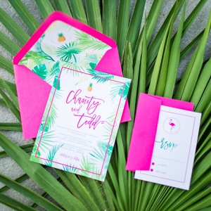 Tropical Hot Pink Wedding Inspiration