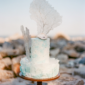 Organic Coastal Wedding Cake