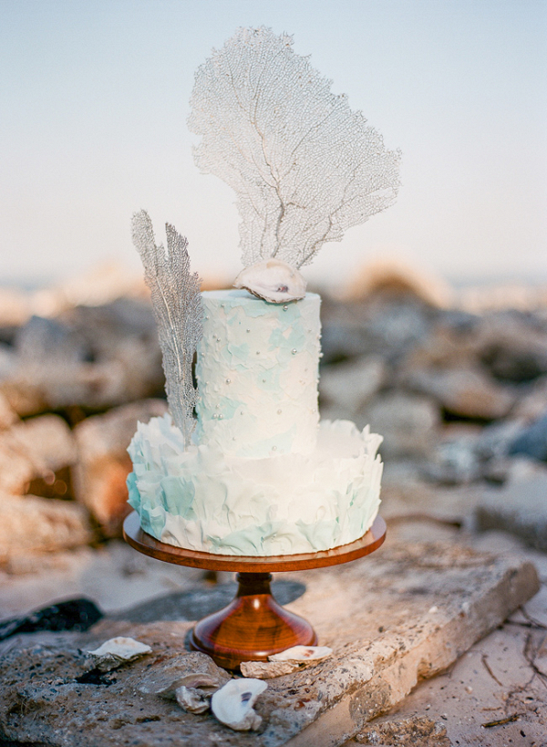 Organic Coastal Wedding Cake