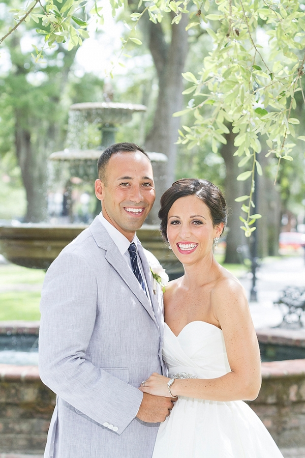 Portraits Of Bride And Groom In Charleston