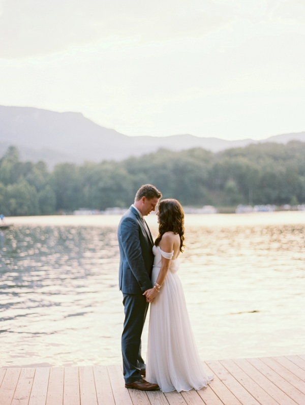 Gold Wedding In Lake Lure North Carolina