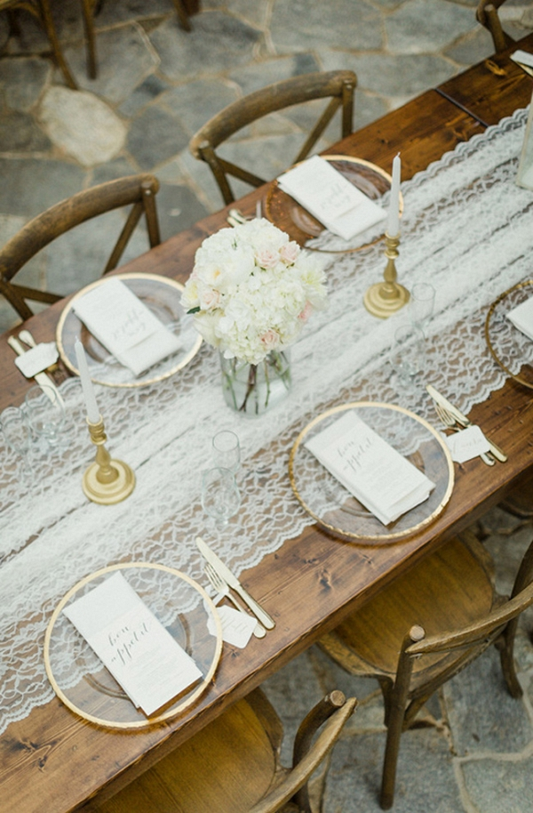 Lakeside Glitter And Gold Wedding