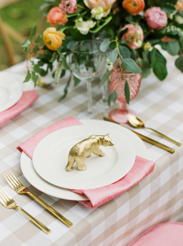 Gingham Wedding Tablescape