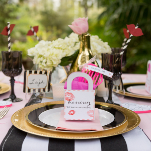 Black And Pink Bridal Shower