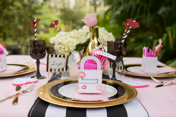 Black And Pink Bridal Shower