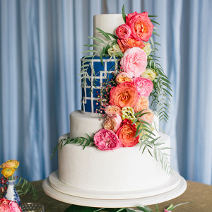 Modern Coral And Blue Wedding