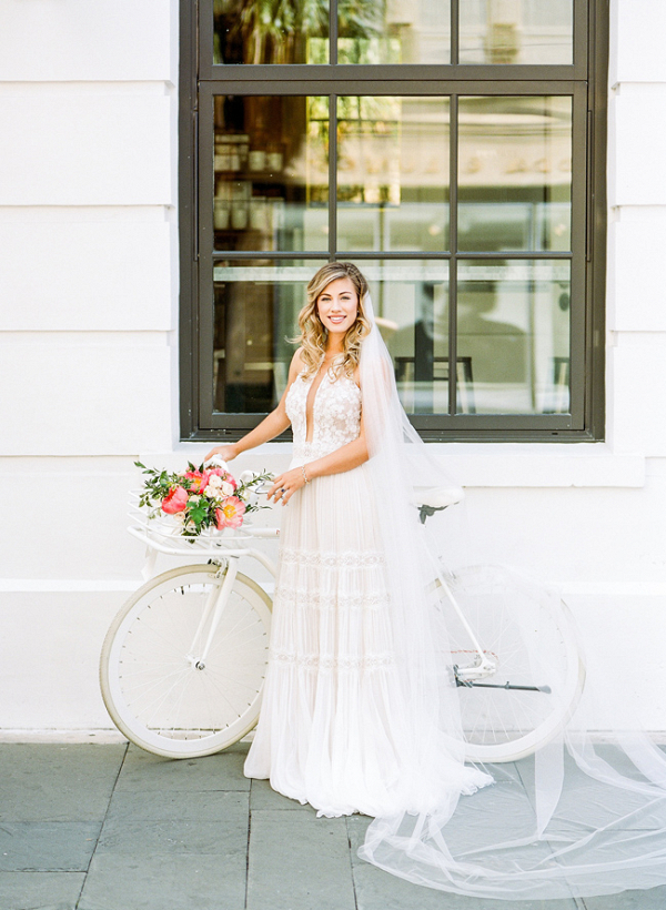 Southern Bride With Bicycle