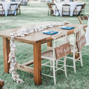 Nautical Virginia Wedding Featuring Oyster Shells