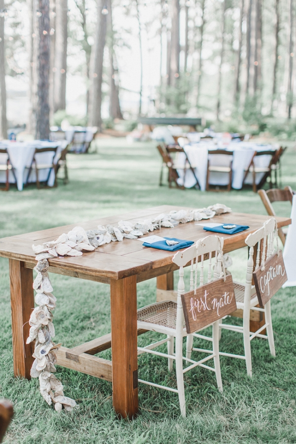 Nautical Virginia Wedding Featuring Oyster Shells