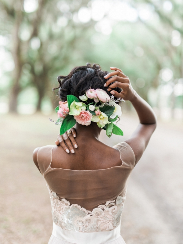 Romantic Pastel Southern Bridal Portraits