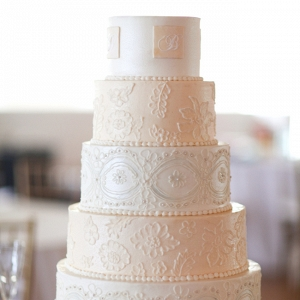 Wedding Cake Designed To Replicate Lace
