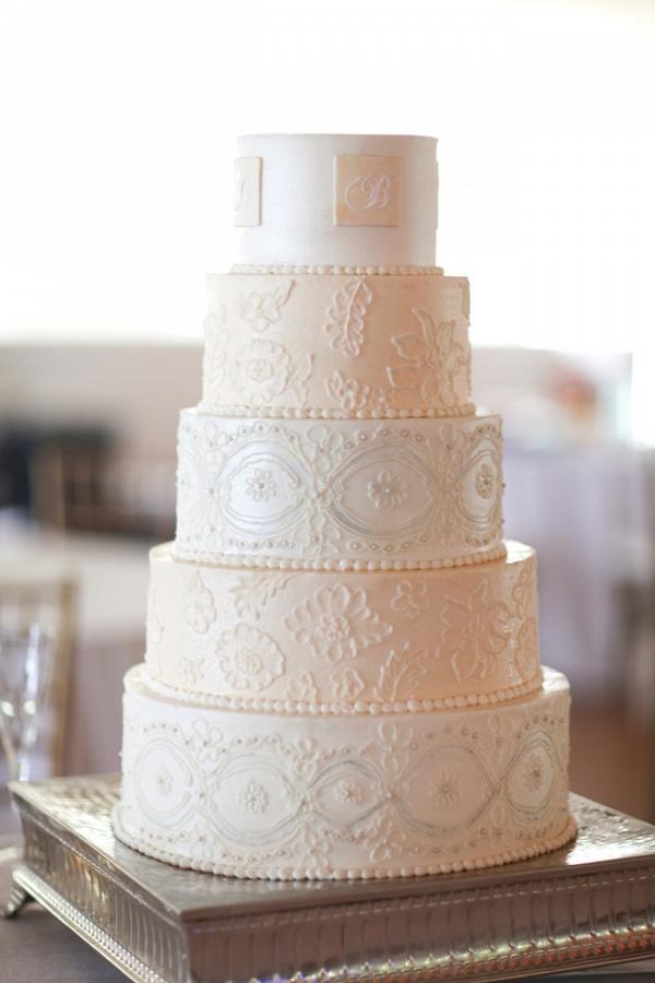 Wedding Cake Designed To Replicate Lace
