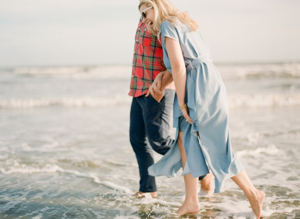 Barefoot Folly Beach Engagement Session