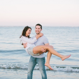 Relaxed Seaside Engagement in Charleston