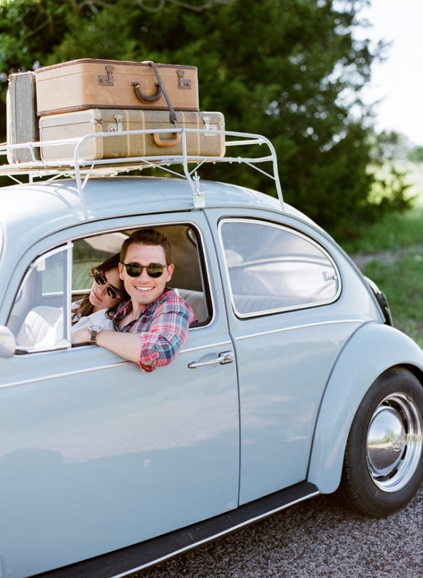 A Romantic Road Trip Engagement