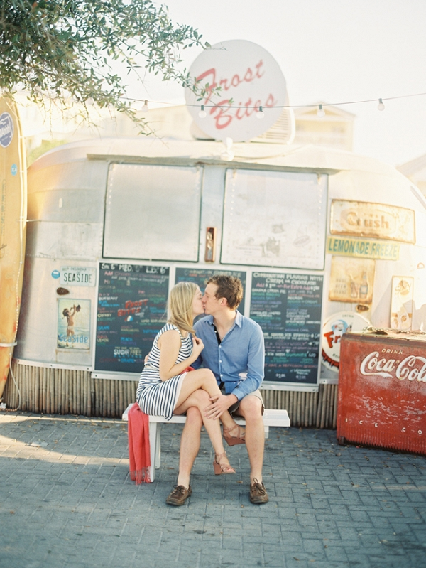 Seaside Florida Engagement Featuring Food Truck