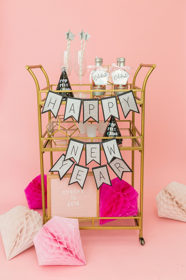 How To Style A New Years Eve Bar Cart