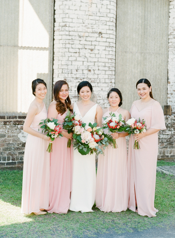 Tropical Meets Modern Bridal Party