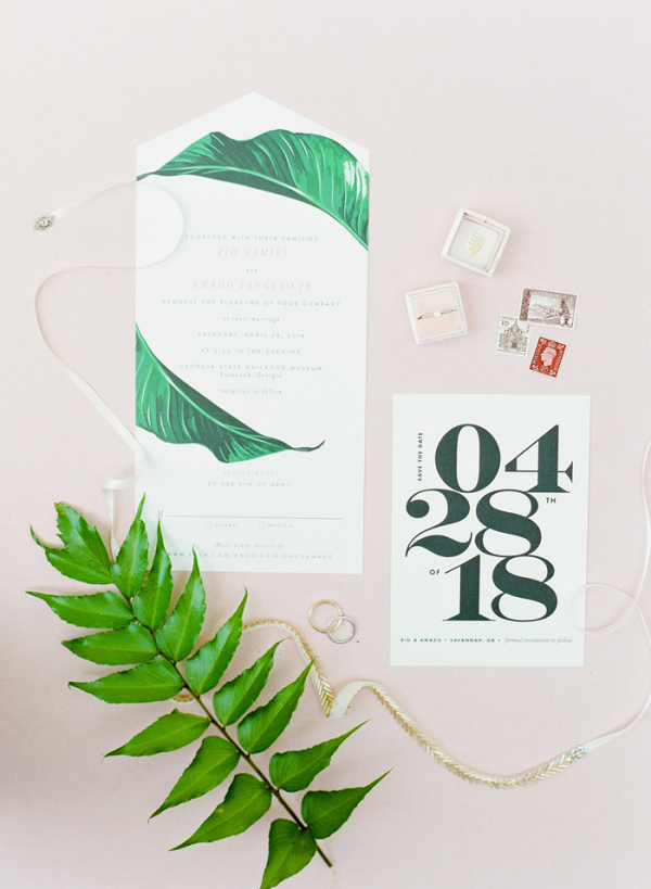 Tropical And Modern Wedding