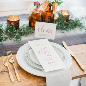Watercolor And Gold Styled Shoot