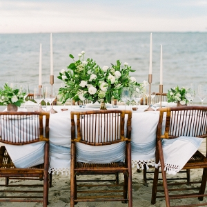 Green And White Beach Reception