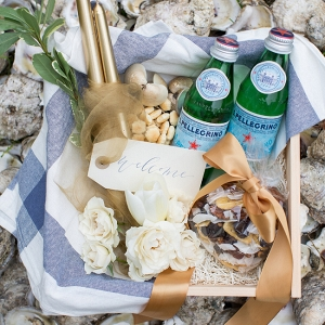 Oyster Shell Wedding Welcome Basket