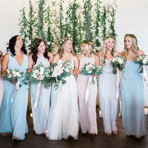 49fad4b03f0 Urban Reception  Pastel Bridesmaid Dresses ...